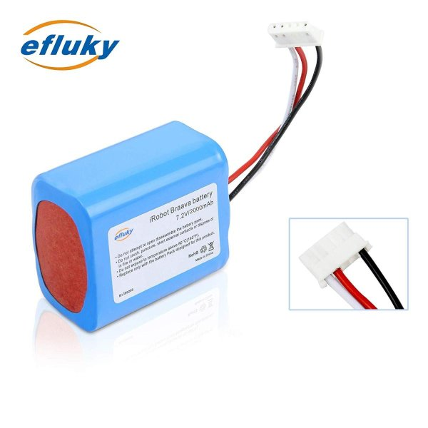 efluky 2000mAh ブラーバ 380J バッテリー 充電池 for Irobot Braava 371J/380T/Mint Pl|takes-shop|07