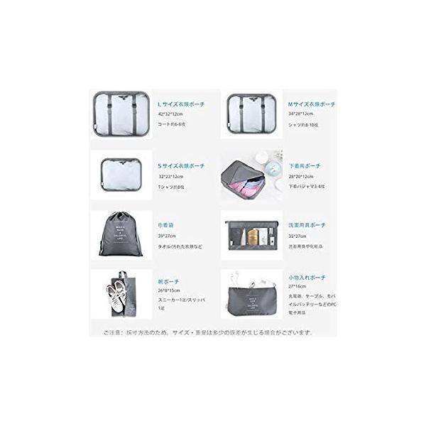 トラベルポーチ 8点セット Ceephouge アレンジケース パッキング 旅行 出張 便利グッズ 衣類 下着収納 洗面用具 PC周辺小物入|takes-shop|04