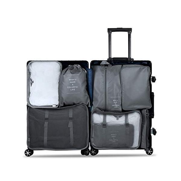 トラベルポーチ 8点セット Ceephouge アレンジケース パッキング 旅行 出張 便利グッズ 衣類 下着収納 洗面用具 PC周辺小物入|takes-shop|09