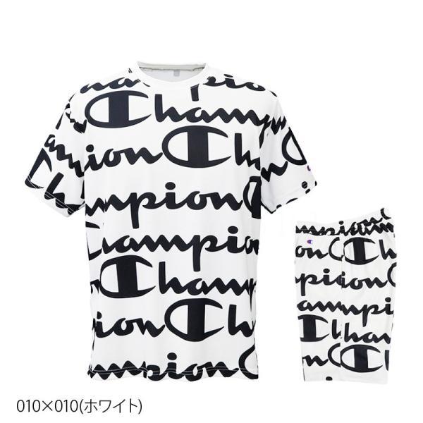 チャンピオン Tシャツ・ハーフパンツ メンズ 上下 Champion 総柄 ビッグロゴ 速乾 防臭 ドライ トレーニングウエア C-VAPOR 送料無料 アウトレット SALE セール|takespo|03