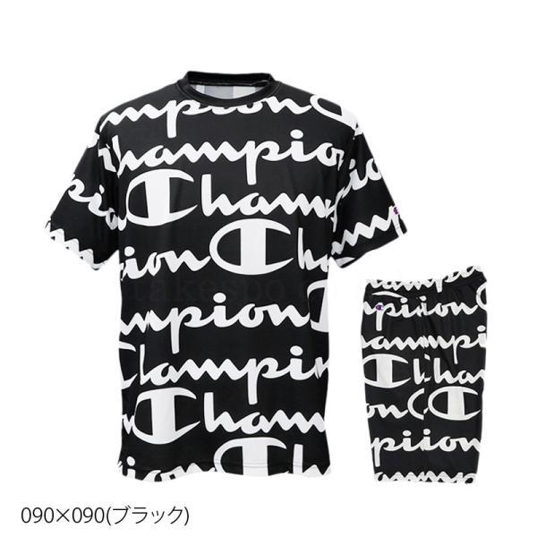 チャンピオン Tシャツ・ハーフパンツ メンズ 上下 Champion 総柄 ビッグロゴ 速乾 防臭 ドライ トレーニングウエア C-VAPOR 送料無料 アウトレット SALE セール|takespo|05