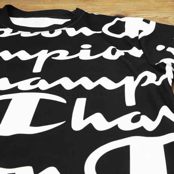 チャンピオン Tシャツ・ハーフパンツ メンズ 上下 Champion 総柄 ビッグロゴ 速乾 防臭 ドライ トレーニングウエア C-VAPOR 送料無料 アウトレット SALE セール|takespo|10