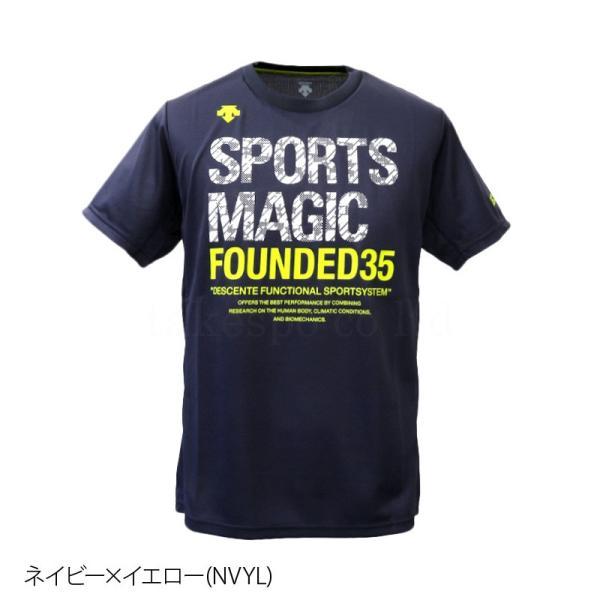 デサント Tシャツ メンズ 上 DESCENTE バレーボール 春 夏 S M L XL XXL ビッグロゴ ドライ 半袖 SPORTS MAGIC スポーツマジック アウトレット 半額|takespo|05