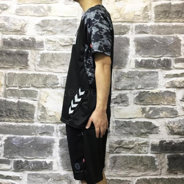 ヒュンメル Tシャツ・ハーフパンツ メンズ 上下 hummel 夏 吸汗 速乾 ドライ カモ柄 半袖/ハーフ トレーニングウエア 新作 takespo 10