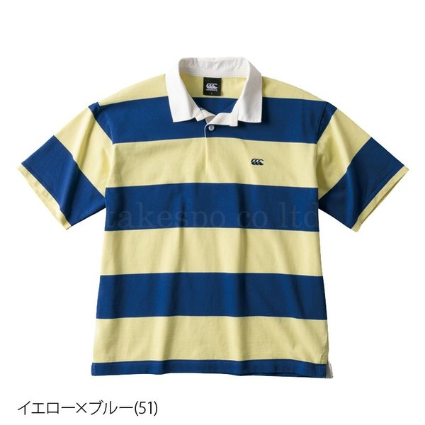 カンタベリー ポロシャツ メンズ 上 CANTERBURY ラグビー ラガーシャツ ストライプ 半袖 新作|takespo|06