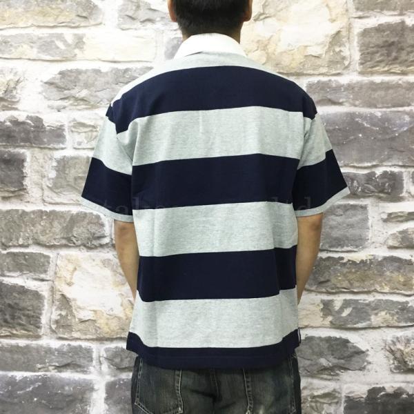 カンタベリー ポロシャツ メンズ 上 CANTERBURY ラグビー ラガーシャツ ストライプ 半袖 新作|takespo|10