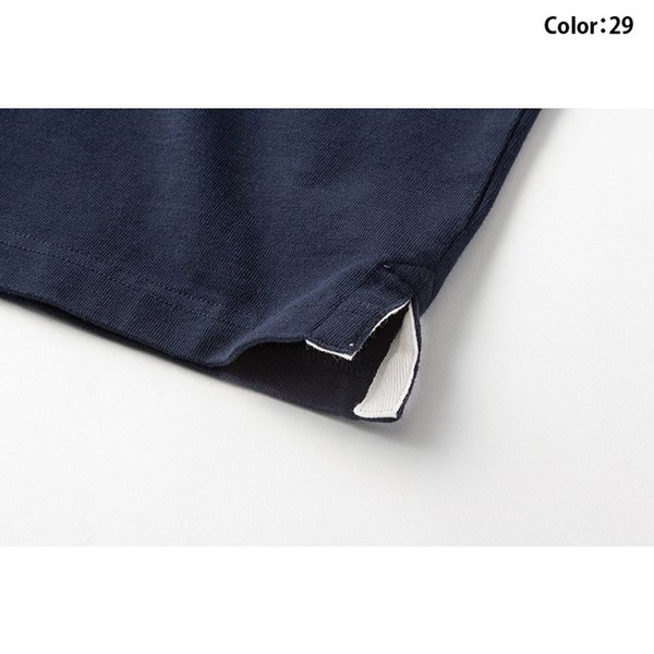 カンタベリー Tシャツ メンズ 上 CANTERBURY ラガーシャツ ノーカラー ストライプ ラグビー 半袖 新作|takespo|09