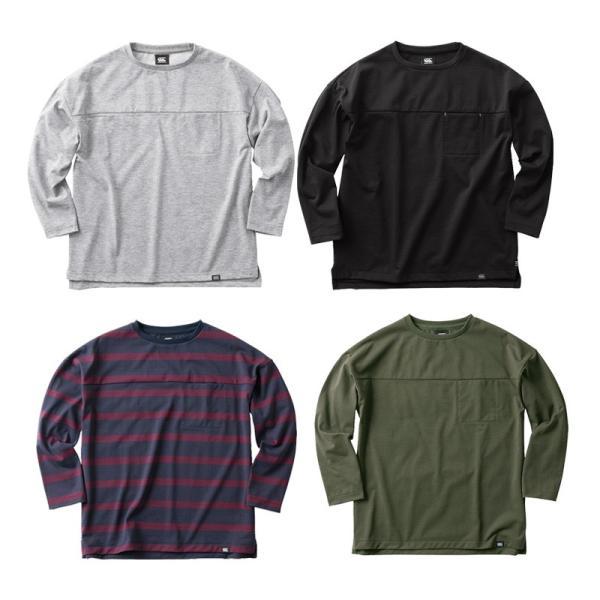 カンタベリー Tシャツ メンズ 上 CANTERBURY ドライ ポケットT 長袖 アウトレット SALE セール|takespo|02
