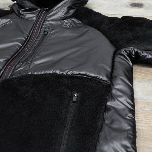 カンタベリー ジャケット メンズ CANTERBURY ボアジャケット 防風 保温 フード付き・裏ボア R+ ラグビープラス 送料無料 あすつく アウトレット 半額|takespo|07