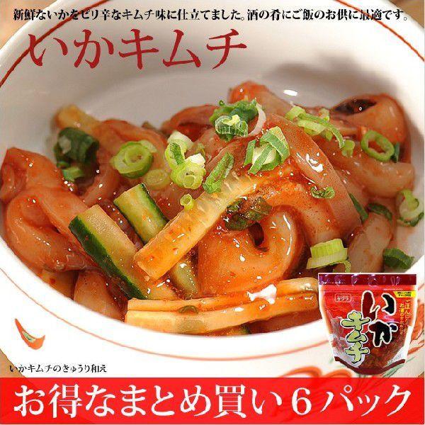 いかキムチ 6パック キムチ味の新感覚いか生珍味|takewa