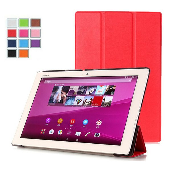 Sony Xperia Z4 Tablet docomo SO-05G /au SOT31 SGP712JP 用カバー手帳型レザーケース/三つ折/横開き/スタンド機能カバー/薄型