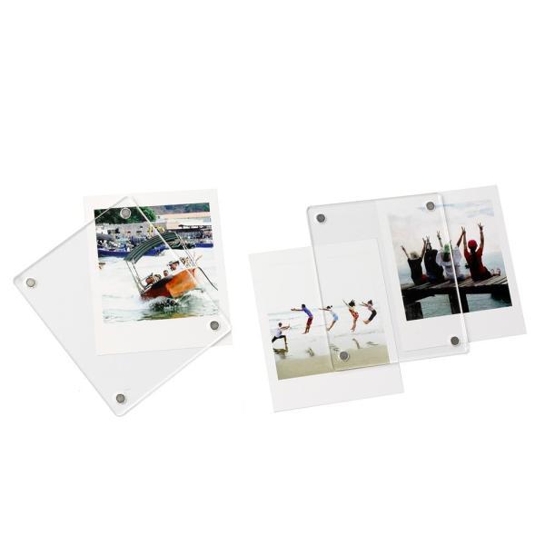 チェキ写真用フレーム インスタントカメラチェキフォトフレーム 冷蔵庫マグネット式フレーム/チェキスクエア用アクセサリー/チェキ用クリアフレーム磁石|takishohin|04