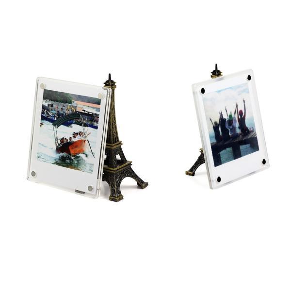 チェキ写真用フレーム インスタントカメラチェキフォトフレーム 冷蔵庫マグネット式フレーム/チェキスクエア用アクセサリー/チェキ用クリアフレーム磁石|takishohin|05