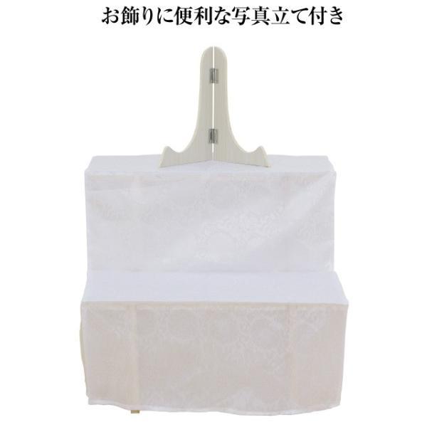 盆棚(精霊棚)・お盆用木製祭壇 白布付き 20号2段 写真立て付き お盆用品|takita|02