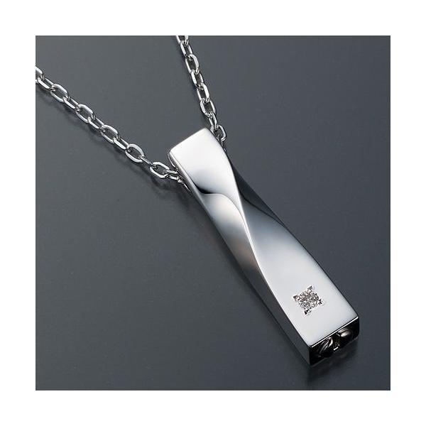 遺骨ペンダント(Soul Jewelry) ツイスト シルバー925・ダイヤモンド takita