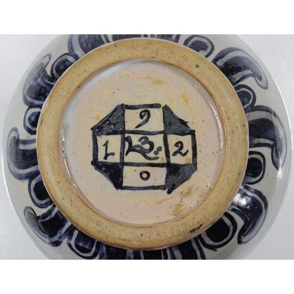 バーナード・リーチ『染付紋章草文注瓶』 1914年頃 共箱 銘有 BL 民藝 希少|takiya-art|06