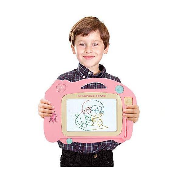 Thinkingwingsお絵かきボード大画面子供ペンマグネットお絵かきスタンプ・ステッカー付きお絵描き繰り返し