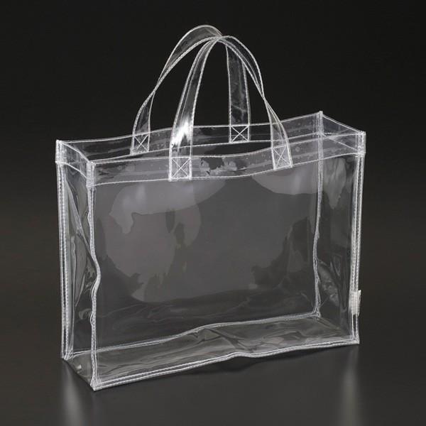 透明ビニールバッグ CB-3225 W320×D100×H250mm 手荷物検査 セキュリティバッグ トートバッグ ハンドバッグ プール レディース