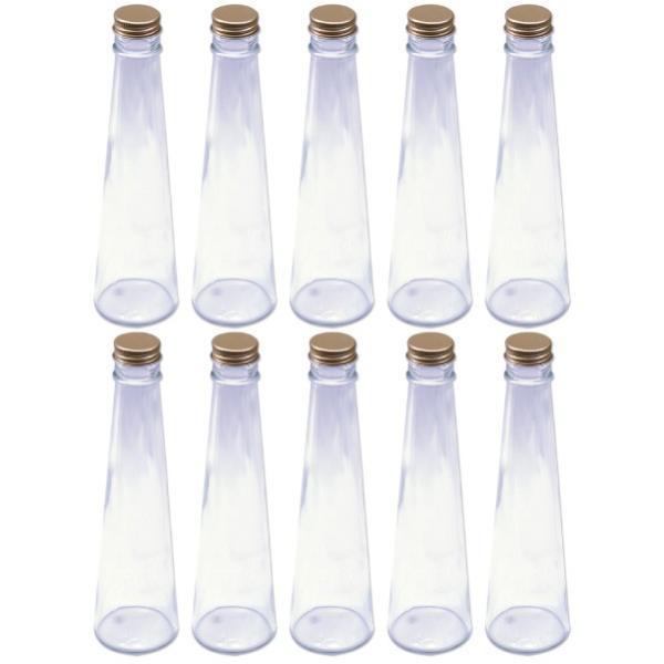 ハーバリウム 円錐ガラス瓶 200cc 10本セット キャップ付 硝子ビン 透明瓶 酒類容器 花材 ウエディング プリザーブドフラワー インスタ SNS インテ