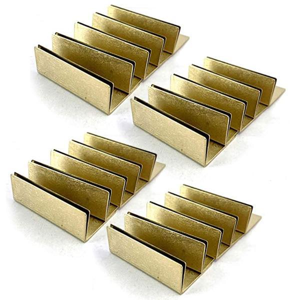 日本製 アンティーク調 ブラス 真鍮 カードスタンド ワイドサイズ 20個セット 名刺 ポストカード立て 値札