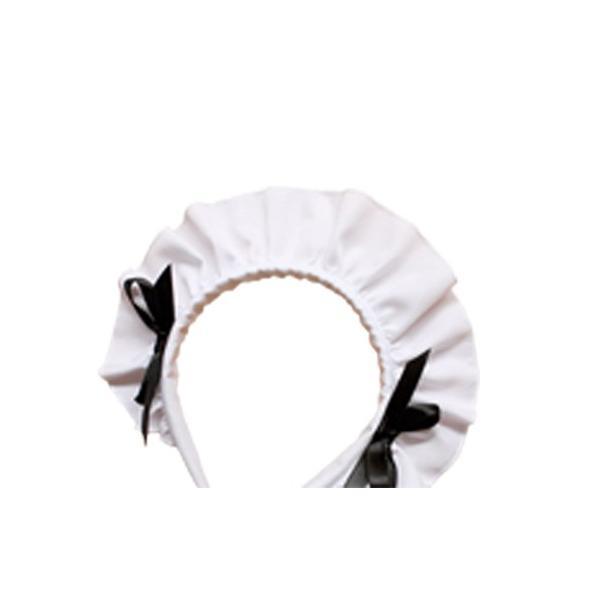 レディース 白黒メイド服 コスチューム カチューシャ付き Mサイズ|takuta2|03