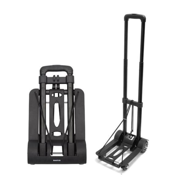 キャリーカート ハンドキャリー 折りたたみ式 軽量で 丈夫 しっかりとした車輪 3段階ハンドル調整 耐荷重50kg|takuta2