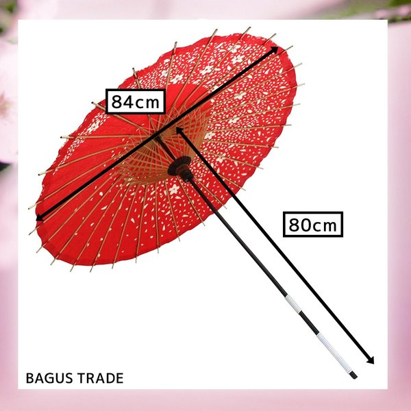 踊り傘 和傘 日傘 コスプレアイテム 直径84cm 長さ80cm 桜|takuta2|02