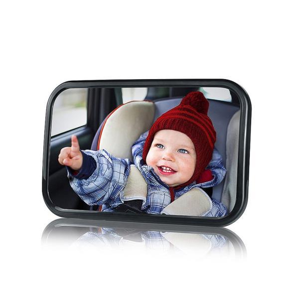 車用 ベビーミラー インサイトミラー 大きいサイズ 角度調整 簡単取り付け チャイルドシートミラー 後部座席の様子がすぐ分る|takuta2