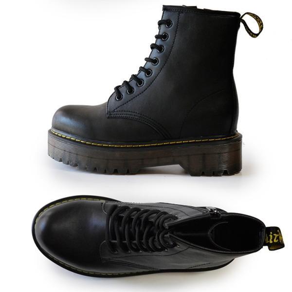 シークレットシューズ レディース 厚底ブーツ エンジニアブーツ レースアップ ブラック 10cmUP 背が高くなる靴トールシューズ 7112-10cm|tallshoes|06