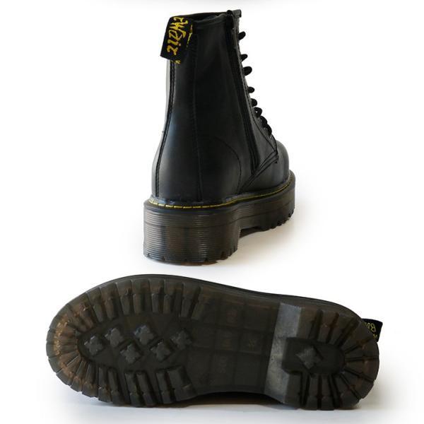 シークレットシューズ レディース 厚底ブーツ エンジニアブーツ レースアップ ブラック 10cmUP 背が高くなる靴トールシューズ 7112-10cm|tallshoes|07