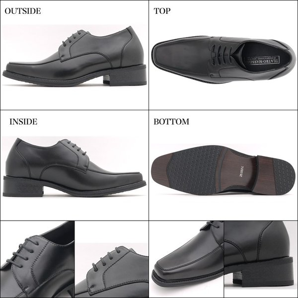 シークレットシューズ メンズシューズ YS8001 背が高くなる靴 7cmUP ビジネスシューズ|tallshoes|03