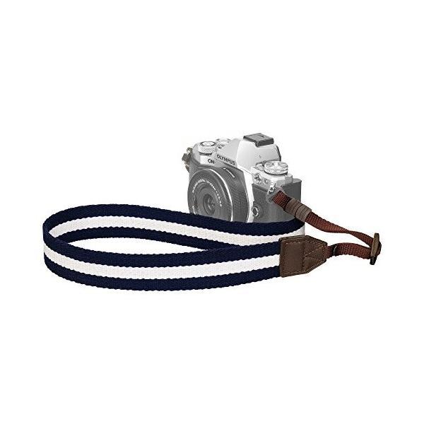 HAKUBA カメラストラップ プラスシェル ストライプストラップ30 一眼レフ/ ミラーレス一眼用 ネイビー×ホワイト KST-67ST30NVW