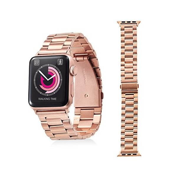 エレコム Apple Watch バンド 38mm ステンレス バンド調整工具付き ピンクゴールド AW-38BDSS3GD