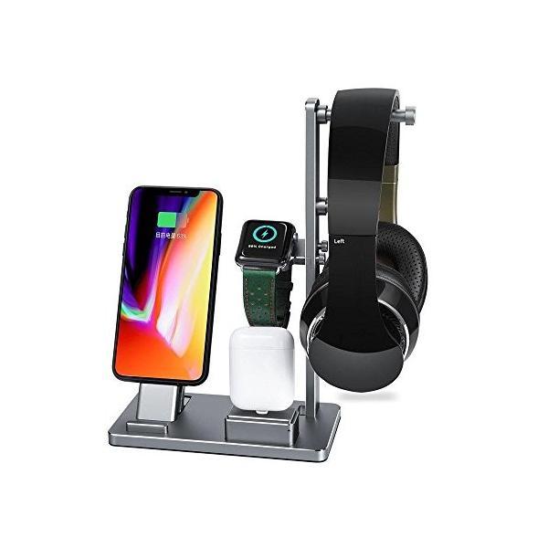 Savman Apple Watch 充電スタンド多功能 6 IN 1 卓上スタンド Apple Watch Series 2 Series 1アル