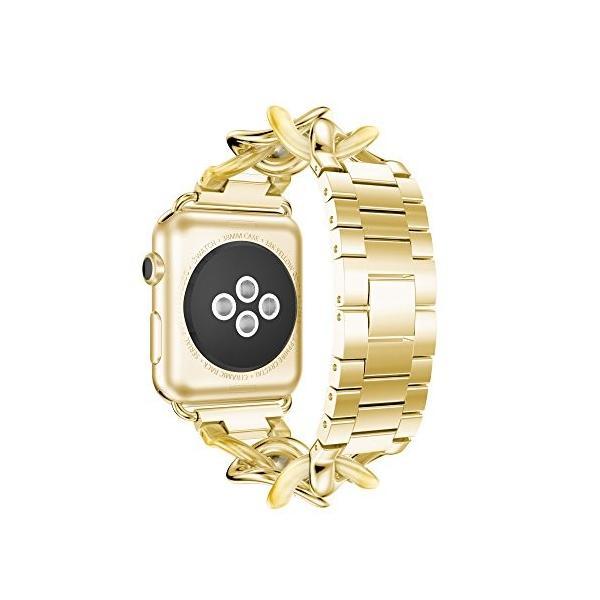 NotoCity Apple watch バンド アップルウォッチ ステンレススチール交換バンド 38mm 42mm 40mm 44mm対応Appl|tam-com|02