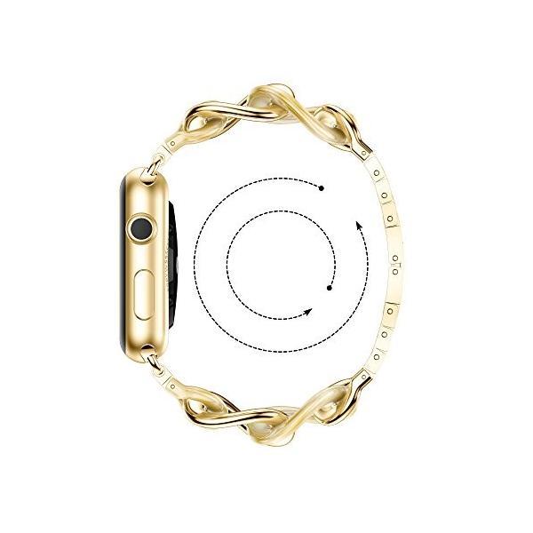 NotoCity Apple watch バンド アップルウォッチ ステンレススチール交換バンド 38mm 42mm 40mm 44mm対応Appl|tam-com|04