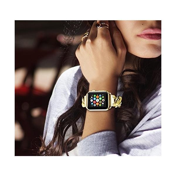 NotoCity Apple watch バンド アップルウォッチ ステンレススチール交換バンド 38mm 42mm 40mm 44mm対応Appl|tam-com|06