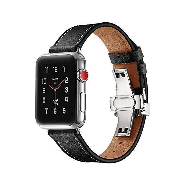 Compatible with Apple Watch Band Strap,男性/女性本物のレザーストラップアップルウォッチバンドシリーズ4 3
