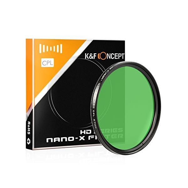 K&F Concept NANO-X C-PLフィルター 62mm ドイツB270高透明度クラウンガラス  MRCナノコーティング KF-SCPL6