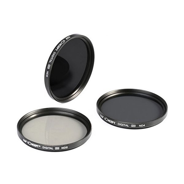 40.5mm ND、K&F Concept NDフィルター 40.5mm ND2 ND4 ND8 減光フィルター カメラフィルター 3枚セット 光