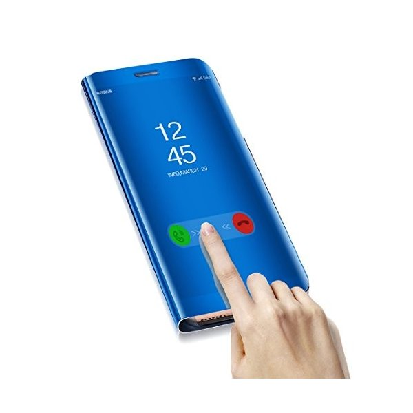 Huawei Mate10 ケース, Translucent Window View Flip Wallet Stand カバー, Shiny Pl