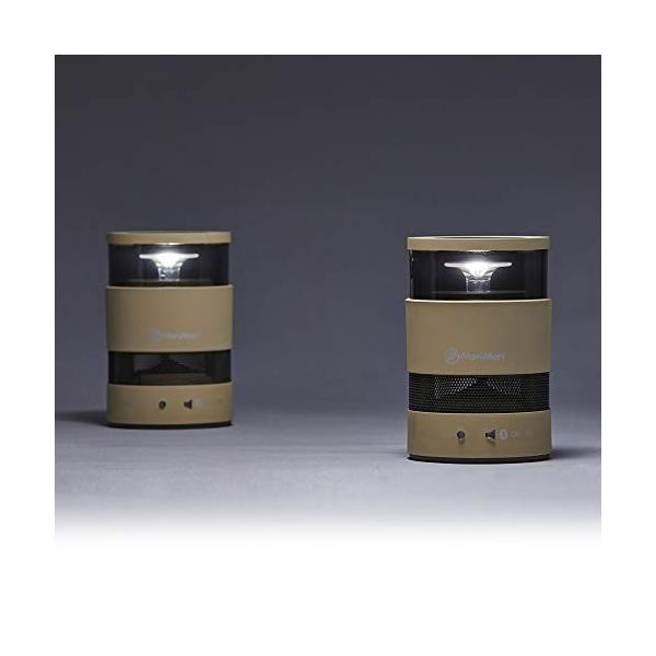 MoriMori W Speaker IVORY ダブル スピーカー アイホリー色 LEDライト付ブルートゥーススピーカー キャリングケース付 F