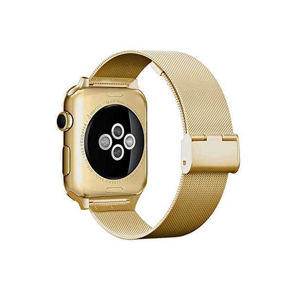 Grotech Apple Watch バンド 44mm ステンレス スチール 42mm ミラネーゼループ アップルウォッチ iWatch Seri