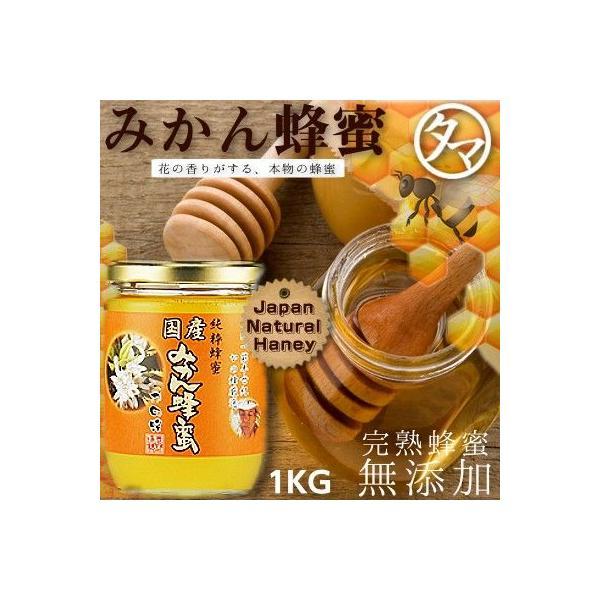 国産みかん蜂蜜(はちみつ) 1000G 福岡県でも有名な名水が湧く飛形山のみかん畑で採蜜したみかん蜂蜜