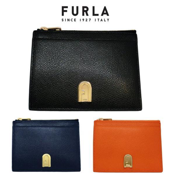 フルラ カードケース コインケース 名刺入れ レザー FURLA PCW7ACO ARE000 FURLA ブラック オレンジ ネイビー レディース(t20)