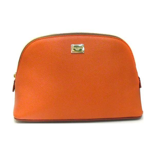 ドルチェ&ガッバーナ ドルガバ D&G Dolce&Gabbana ポーチ オレンジ レザー bv0163 dg