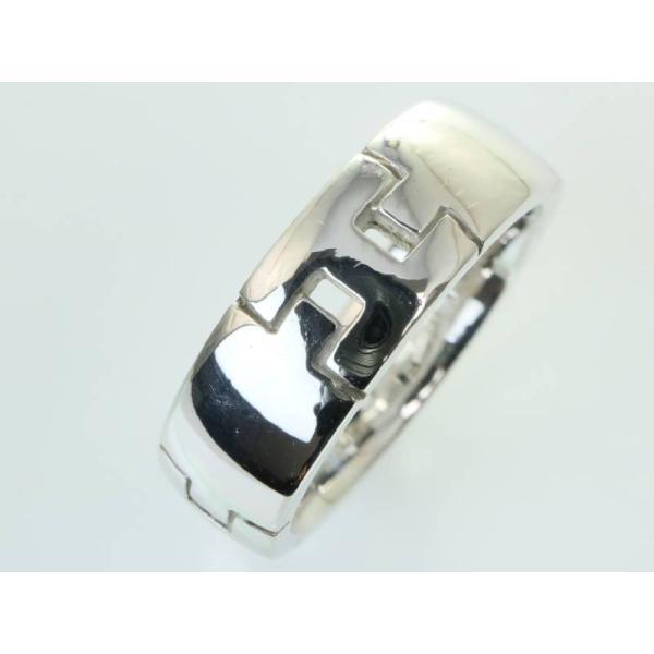 エルメス 美品 ヘラクレス リング 13.5号 Hマーク 750 K18WG