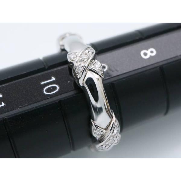 ティファニー 美品 ダイヤ 25P シグネチャー リング 9.5号 K18WG ホワイトゴールド