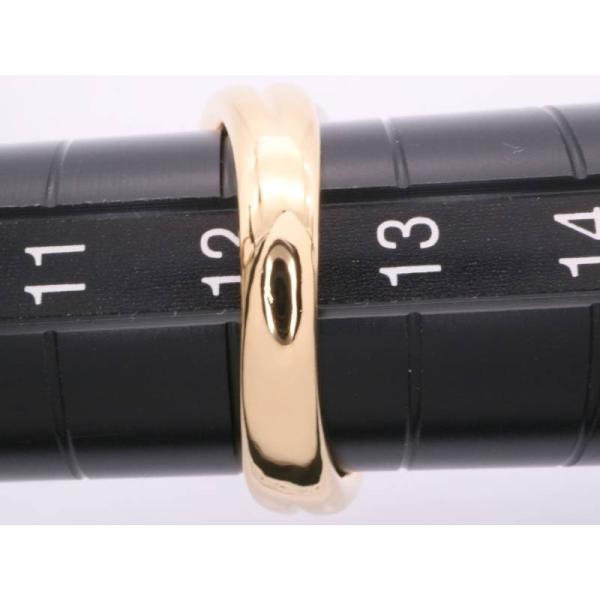 リング 12号 ルビー0.70ct ダイヤ0.55ct デザイン K18YG pt900 イエローゴールド プラチナ 新品同様