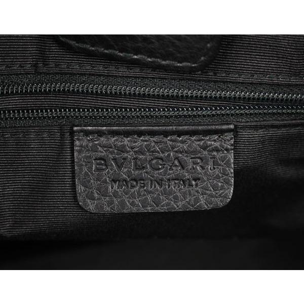 BVLGARI ブルガリ■ロゴマニア キャンバス/レザー トートバッグ 黒■01499